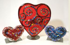 Heart-shaped votives can be found at Manya Vee Selects.
