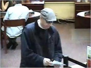 Security photos taken of bank robbery suspect.