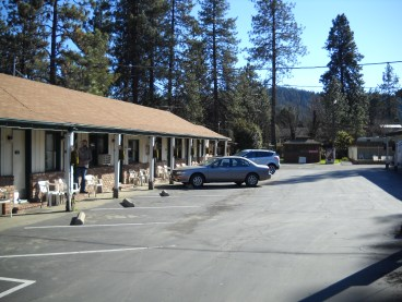 The '50s motel in Trinity, California where Charlize and I stayed.