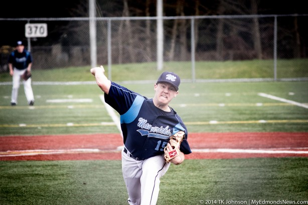 Elliot Reece started on the mound for Meadowdale.