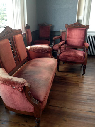 George Brackett's parlor furniture, to be seen in upcoming exhibit at the newly remodeled Edmonds Historical Museum.