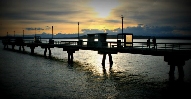 From Brian Soergel, a picture-perfect sunset at the Edmonds fishing pier Wednesday.