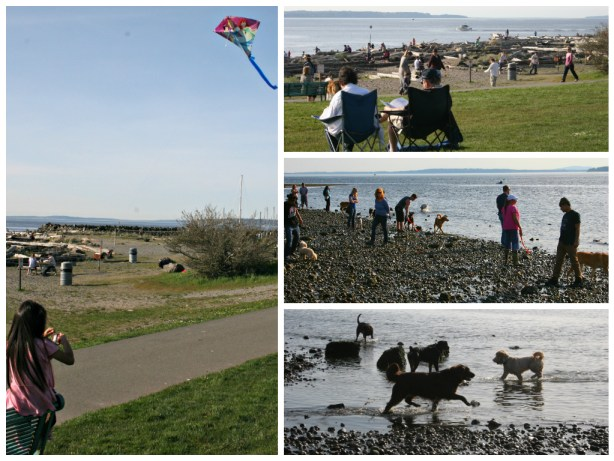 From Brian Soergel, who captured people and dogs enjoying the warm Monday sunshine.