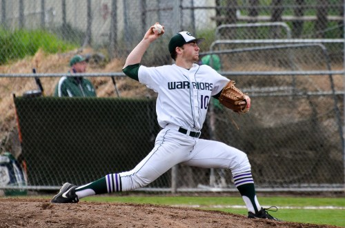 Tate Budnick pitched a complete game for Warriors, garnering six strikeouts.