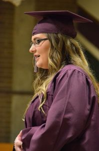 Graduating senior Monica Burdick opened the 2014 Scriber Lake High School commencement program by singing The Star Spangled Banner.
