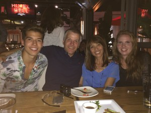 Casey, parents Dale and Lisa, and Kaysea after the first live show in Los Angeles on July 2. (Photo courtesy of Lisa Askew)