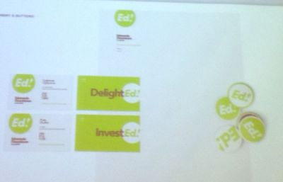 """An example of the """"Ed!"""" branding revealed by the Edmonds Downtown Business Improvement District Tuesday night."""
