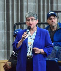 """Edmonds Community College president Jean Hernandez stressed the importance of continuing and enhancing funding and other support for post-secondary education as a critical piece of the delegation's """"cradle to career"""" approach."""