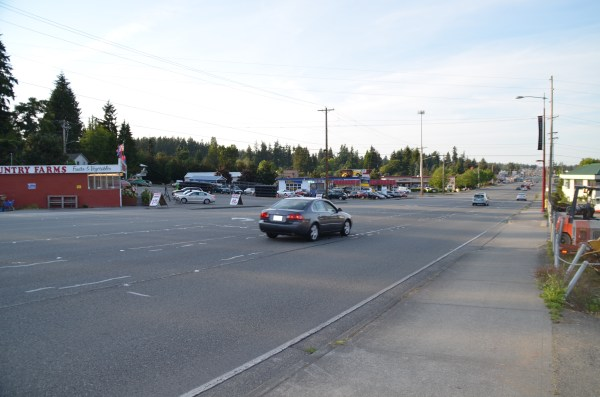 How the area near the planned intersection looks now.