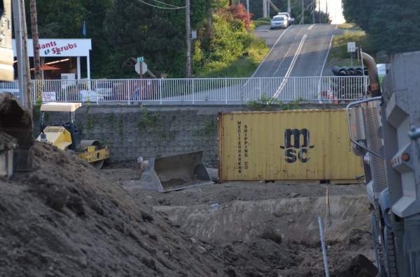 A look at the eventual roadway taken from 76th Avenue West facing westbound. Country Farms Produce is to the left.