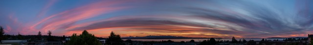A panoramic view of Friday's sunset, from J. Prall.