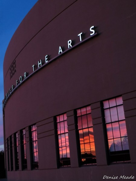From Denise Meade: Friday night's sunset reflected in the windows of the Edmonds Center for the Arts.