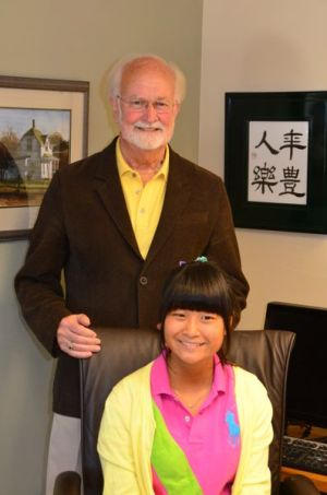 Earling got an overwhelming response to his offer to sit in the Mayor's chair, with each student, chaperones, and other staff taking the opportunity.  One of the first to jump in was Megumi Nagura.
