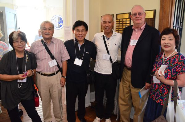 Museum Board President Bill Lambert with members of the adult delegation visiting from Edmonds' Sister City of Hekinan.