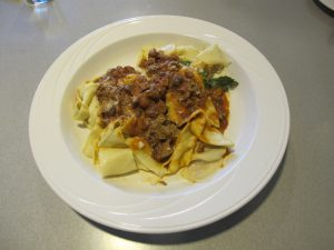Duck Ragu with Taglaitelle.
