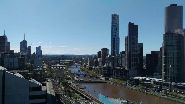 Melbourne's main downtown core is on the north bank of this river, though the city continues to the south bank.