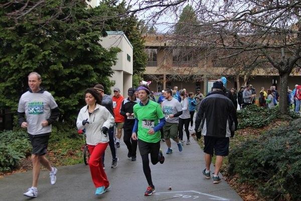 Over 400 runners and walkers participated in the event.