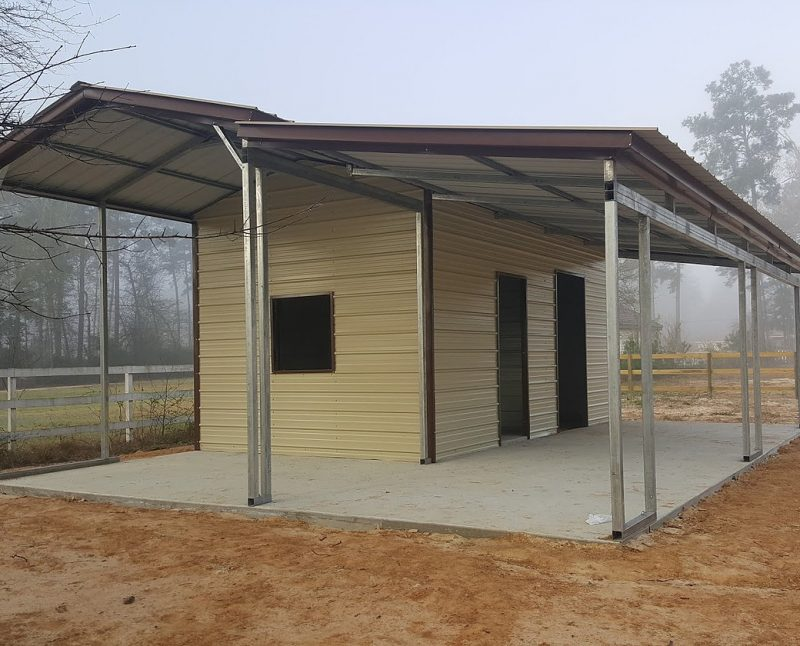 27 Partially Enclosed Carport With Lean To Elite Metal
