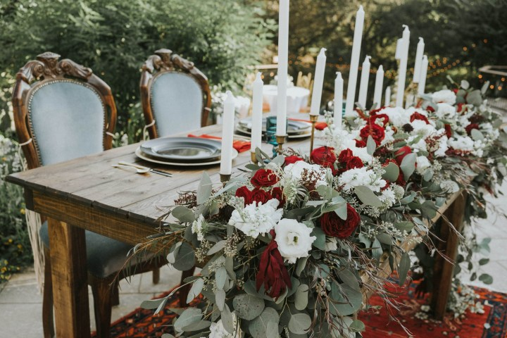 Baby's Breath and Boho Vibes – An Eclectic Backyard Wedding Reception