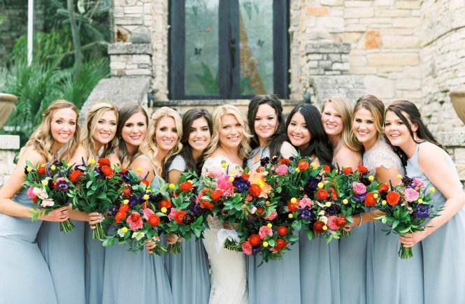 Faith Love And Bluebonnets Chris And Caitlin S Colorful Wedding