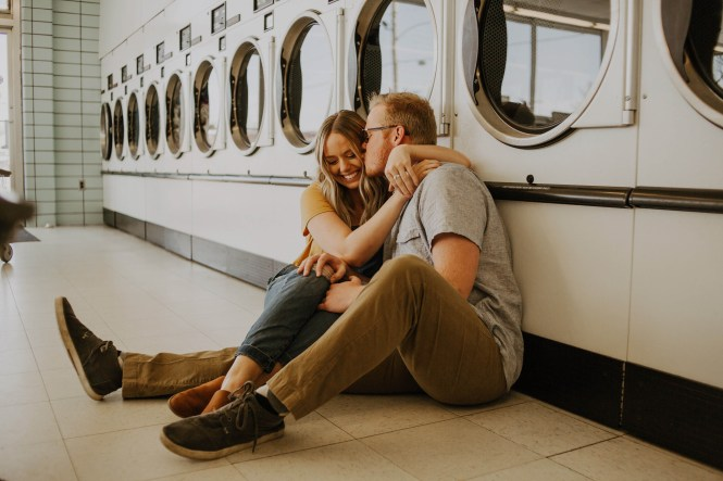 Laundromat Engagement-20