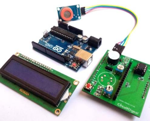 Alcohol Sensing instrument using the Atmega