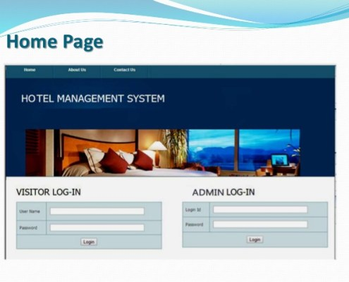 Hotel Website Management System