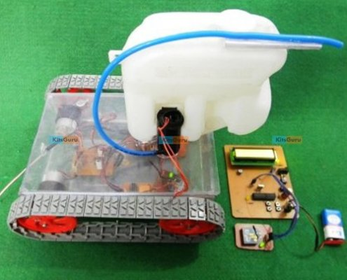 Fire Detection and Extinguisher Robot