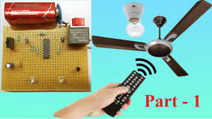 TV Remote Controlled AC Fan Regulator (Without Microcontroller )