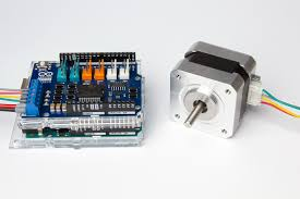Touch screen Control stepper motor