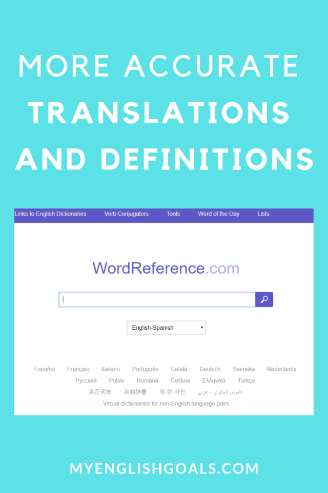 More accurate translations and definitions with WordReference