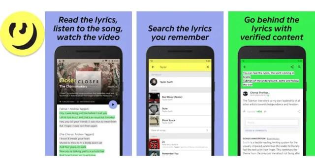 Genius app for song lyrics