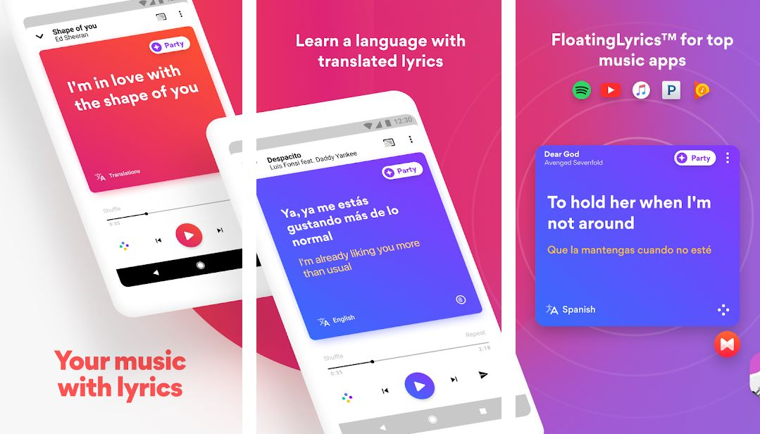 Musixmatch app for song lyrics with translations