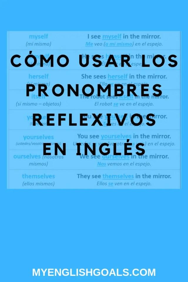 Cómo usar los pronombres reflexivos en inglés.