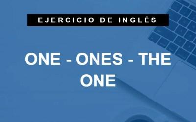 Traduce estas frases con la palabra «one» en inglés (A1 Principiante)