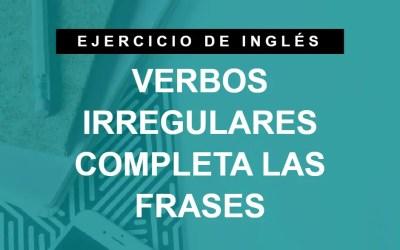 Elige el verbo irregular correcto en inglés (ejercicio 1/4) (A1 Principiante)