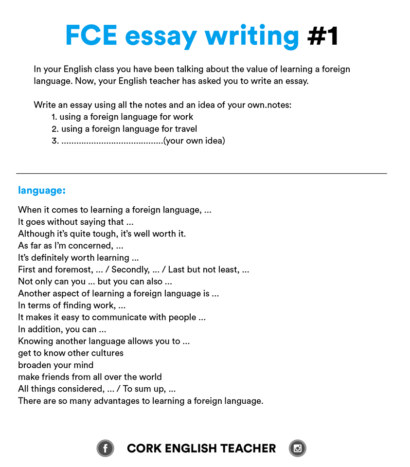 Example Of Essay Writing Fce Exam Writing Samples And Essay Examples Myenglishteacher Eu Blog