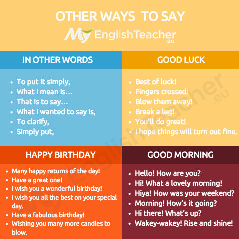 Other Ways To Say Happy Birthday