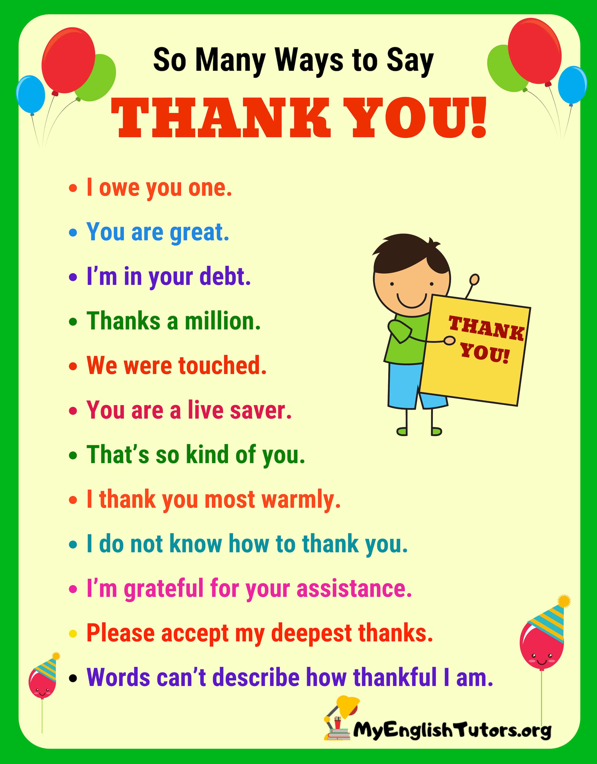 Thank You Synonym 41 Power Ways To Say Thank You