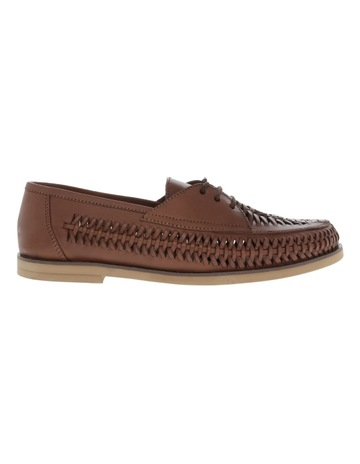 Mens Brown Leather Slip On Shoes