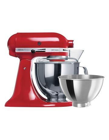 kitchen mixers commercial hood myer kitchenaid ksm160 artisan stand mixer red 5ksm160psaer