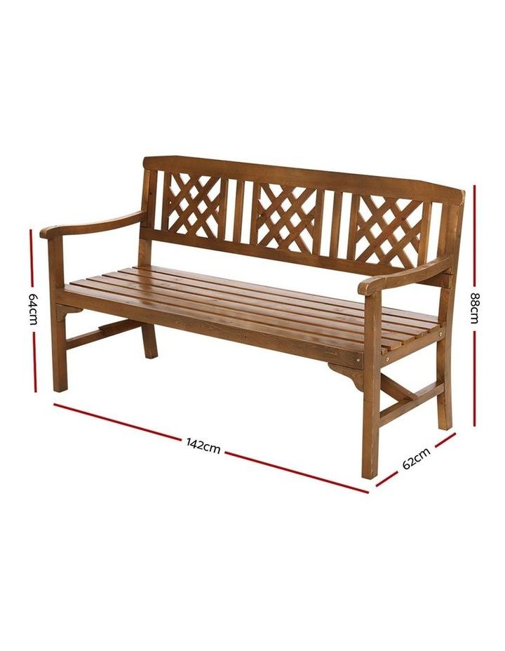 gardeon wooden garden bench 3 seat patio furniture timber outdoor lounge chair