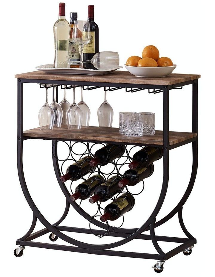 ihomdec industrial wine rack cart with glass holder vintage brown