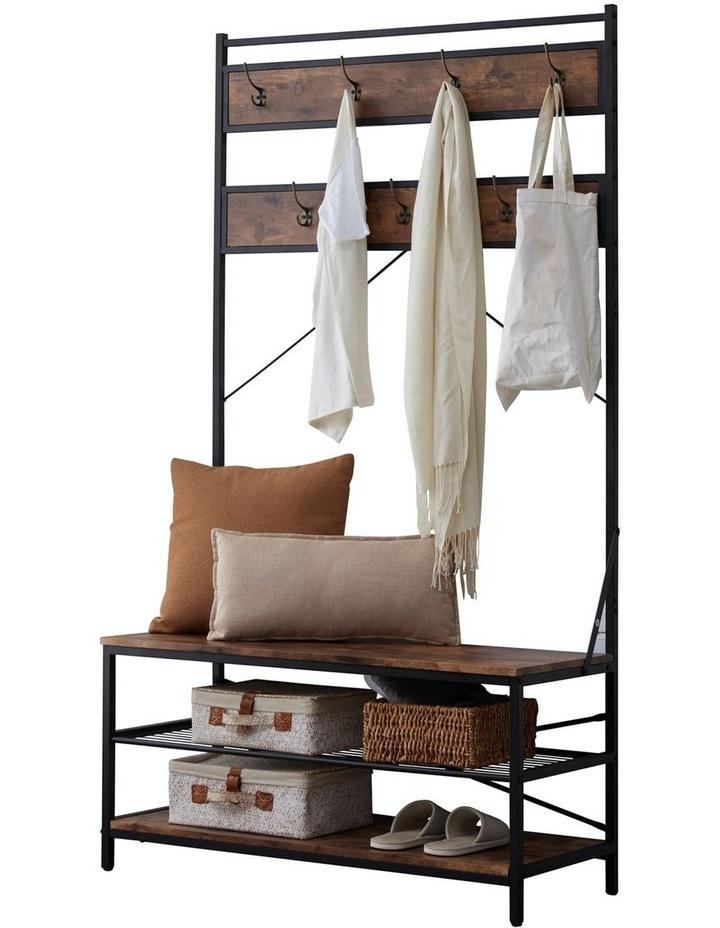 ihomdec 3 tier entryway coat shoe rack and storage shelves