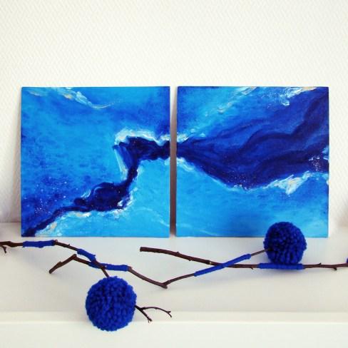 Интерьерная картина «Синяя вода»