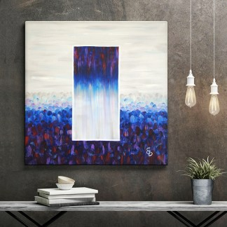 Картина интерьер «Зазеркалье2» лофт маслом на холсте 50х50см.
