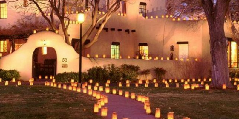 Experience the Luminarias of Albuquerque in Old Town