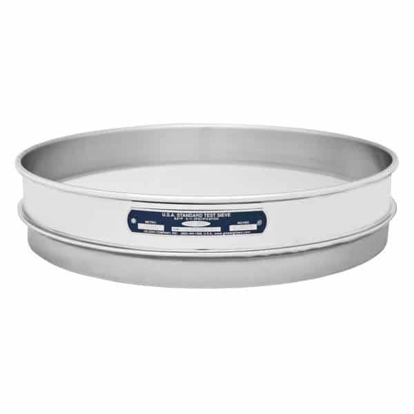 """Half Height Stainless-Stainless Sieves 12"""""""