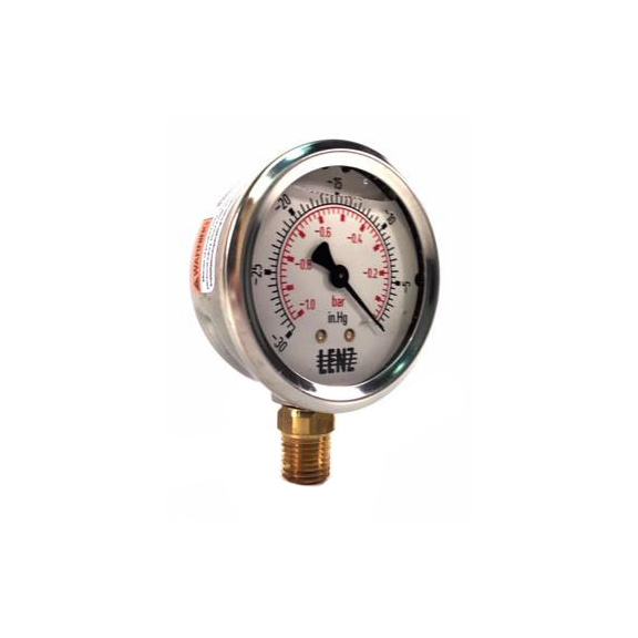 Liquid Filled Dial Vacuum Gauge