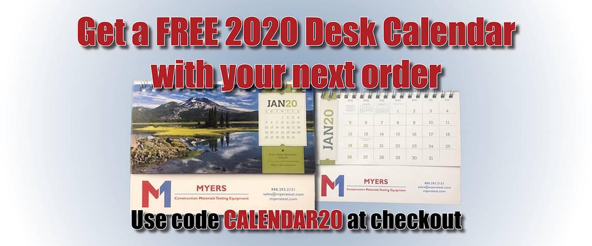 Free 2020 Desk Calendar